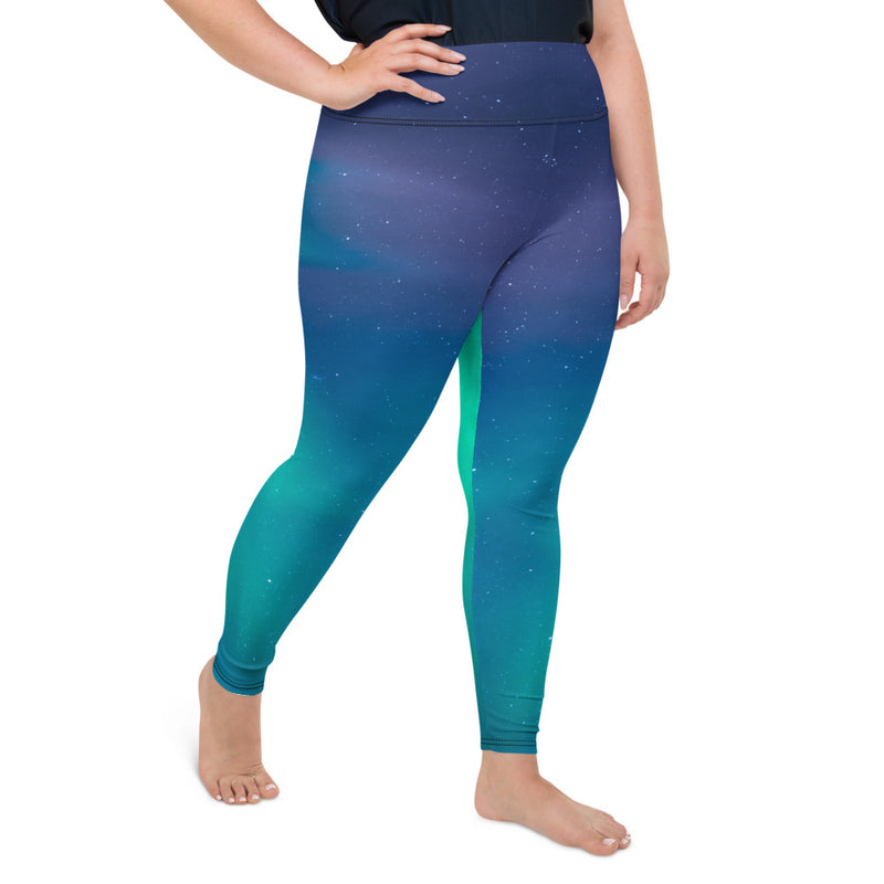Aurora Borealis 3 Plus Size Leggings