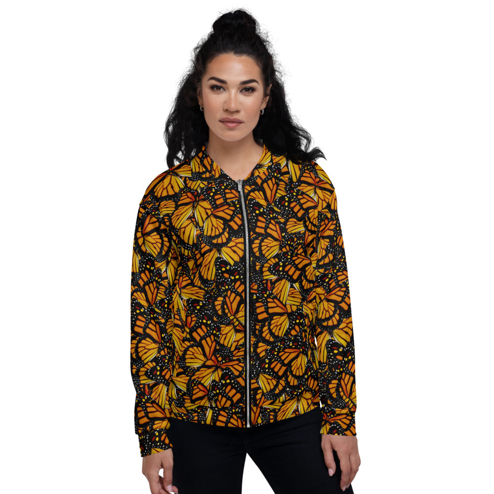 Monarch Butterfly Unisex Bomber Jacket