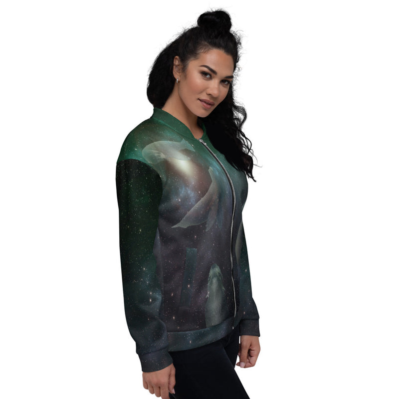 Cosmic Sea Lion Unisex Bomber Jacket