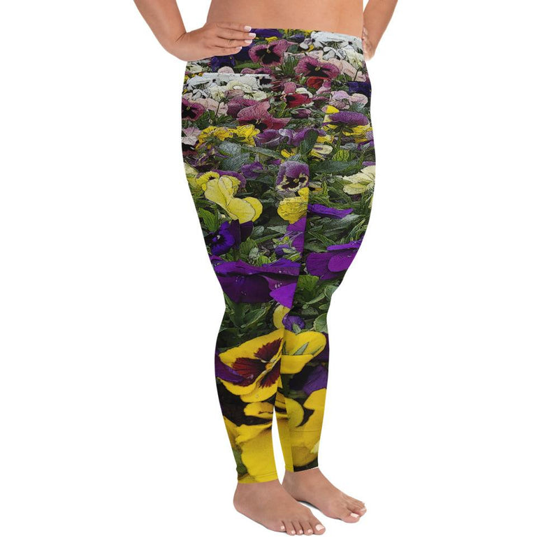Pansies Plus Size Leggings