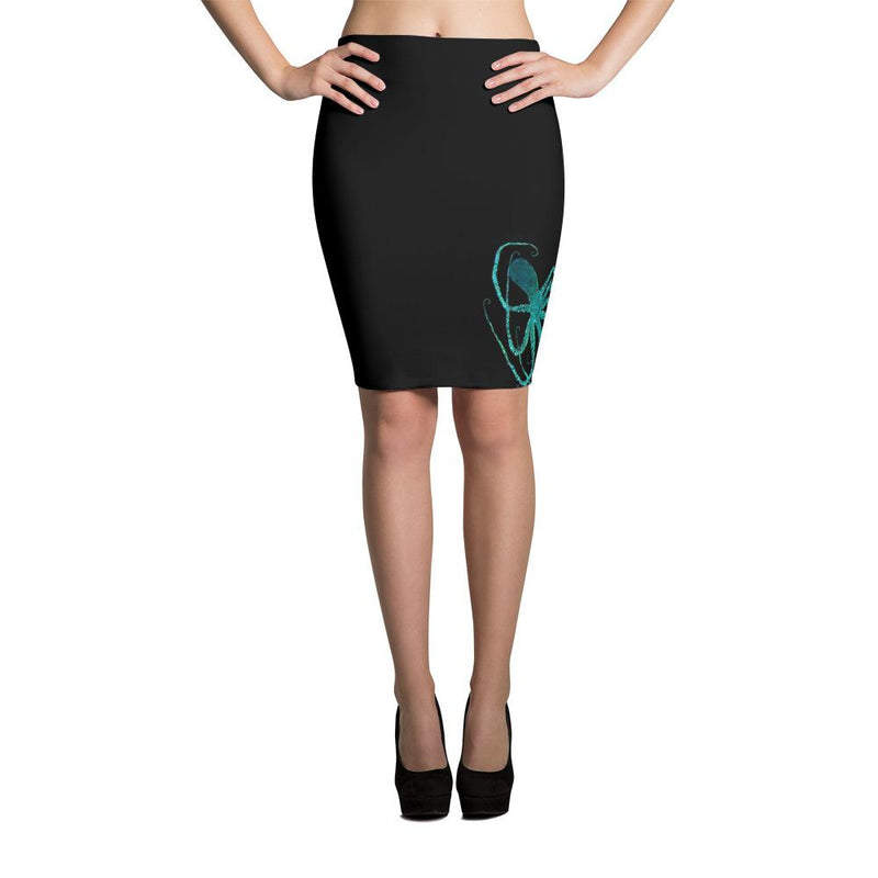 Teal Octopus 2 Pencil Skirt - 57 Peaks