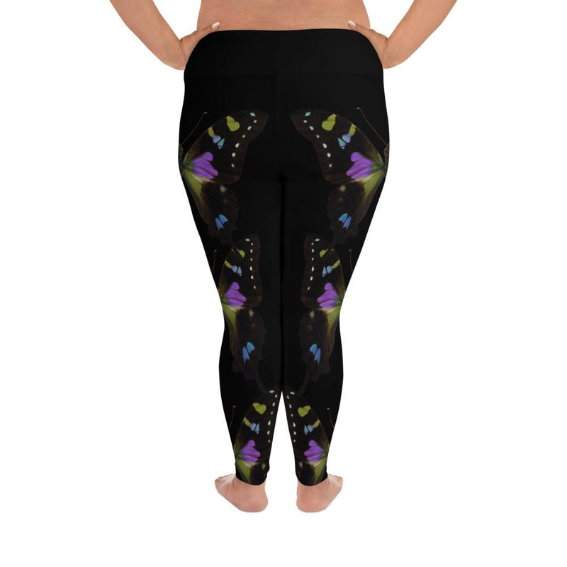 Purple Spotted Swallowtail Plus Size Leggings