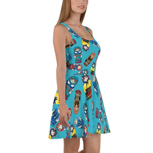 Matryoshka Doll Skater Dress
