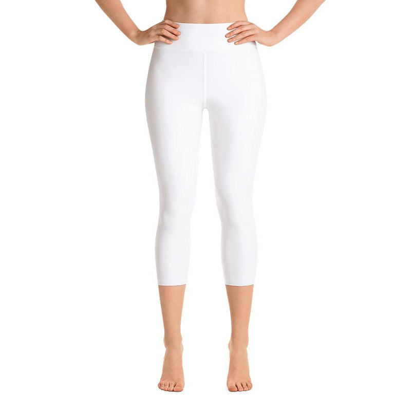 Arctic White Yoga Capri Leggings