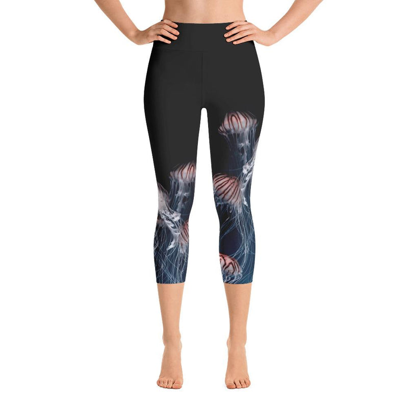 Jellyfish Yoga Capri Leggings - 57 Peaks