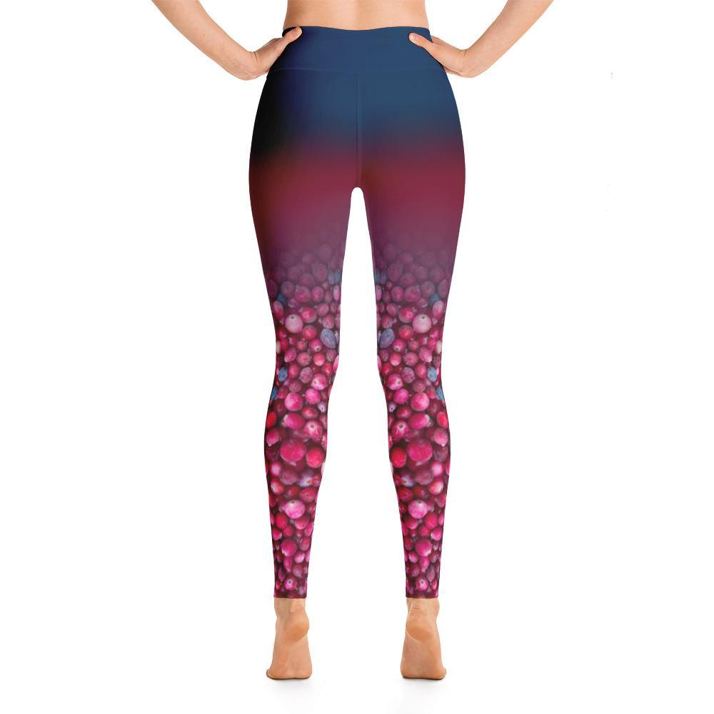 Bog Cranberry Yoga Leggings - 57 Peaks