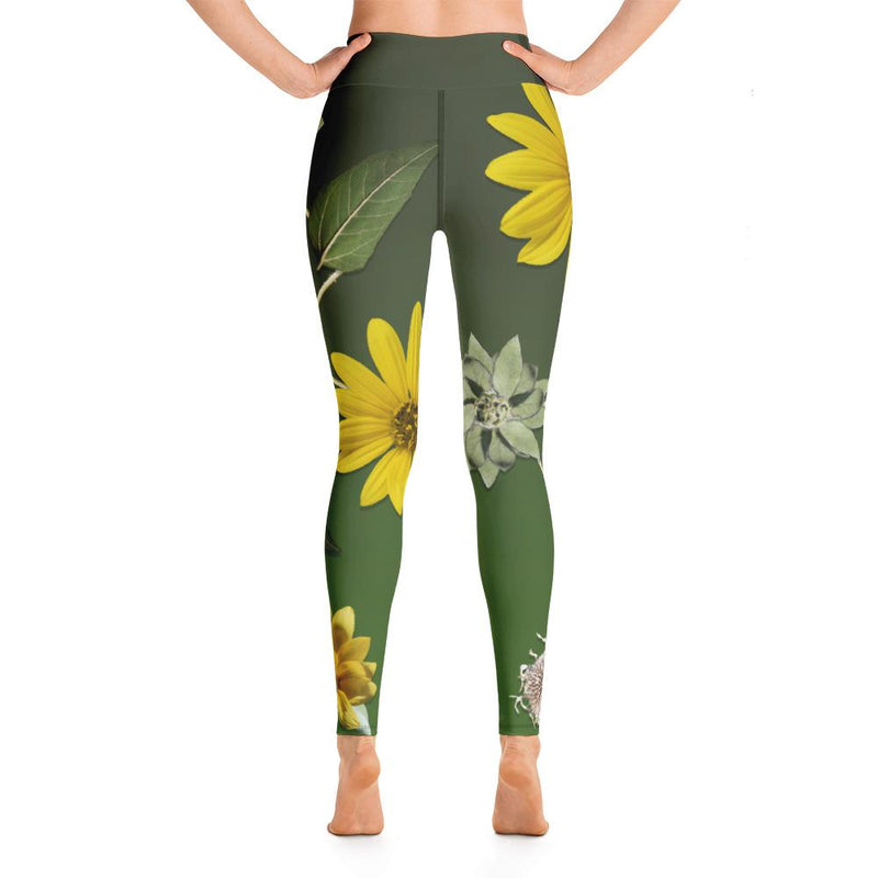 Grandma's Sunflower Yoga Leggings - 57 Peaks