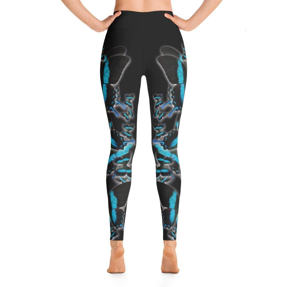 Green Swallowtail 2 Yoga Leggings - 57 Peaks