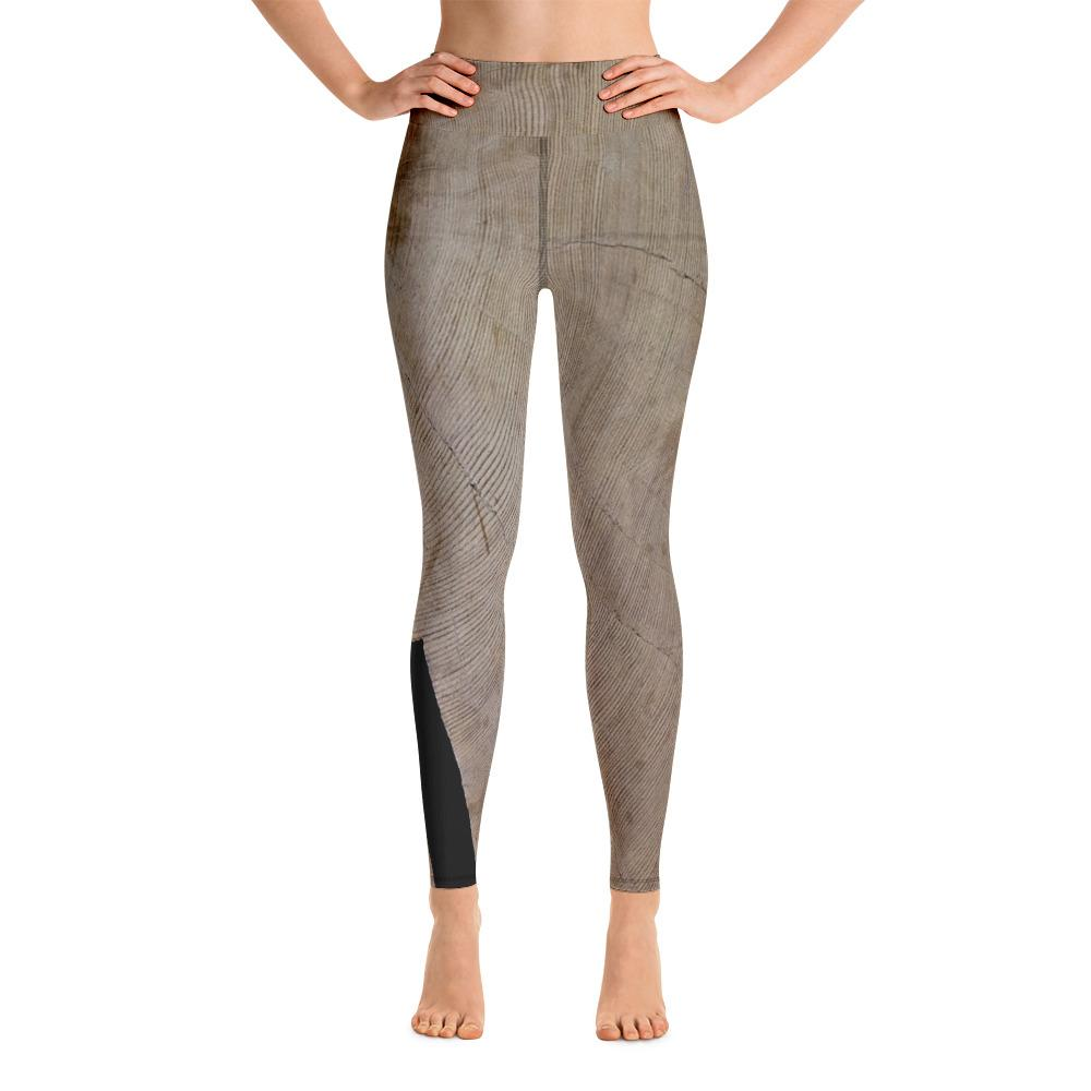 Sitka Spruce Cross Section Yoga Leggings - 57 Peaks