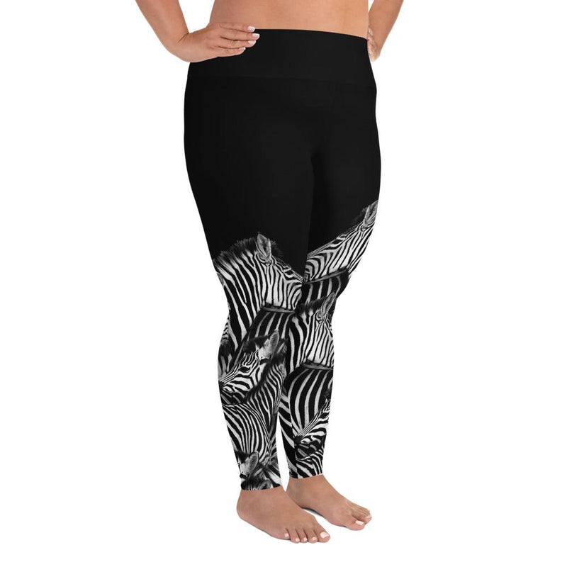 Zebra Plus Size Leggings