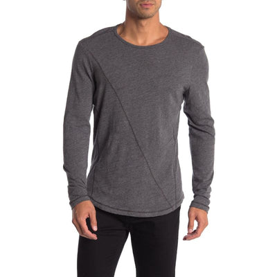 ROBERT BARAKETT Meadowbrook Crew Long Sleeve Slub T-Shirt, Navy & Grey
