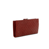 Hobo International Diamond Emb Mahogany Krista Leather Wallet