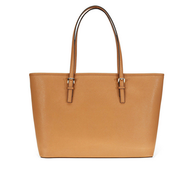 Michael Kors Jet Set Travel Multifunction Tote Bag in  Acorn Leather