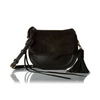 Moonwalking Small Saddle Cross Body in Black Leather