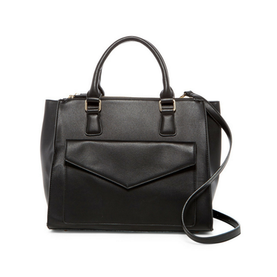 Black Marlowe Vegan/ Faux Leather Satchel, Urban Expressions- Deluge Sales