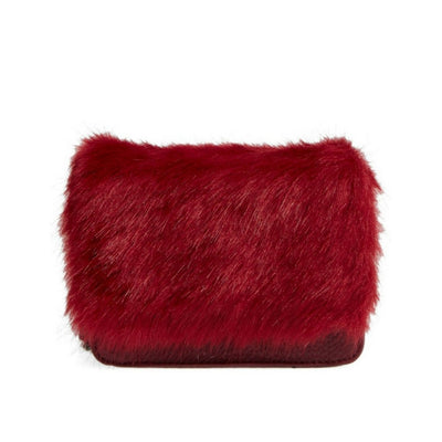 Faux Fur Trim Chain Crossbody Bag, BP.- Deluge Sales