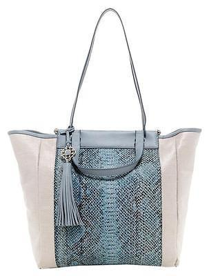 Joey Tote, Bule-Nude Leather Large Tote Bag, Rafe- Deluge Sales