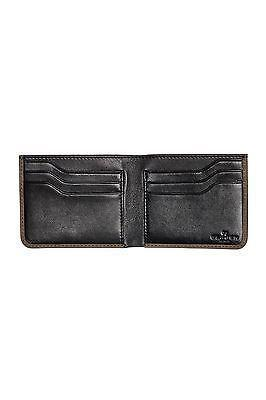 Nicolai Bifold Wallet in Sand/Steel Grey Leather Wallet, Skagen- Deluge Sales