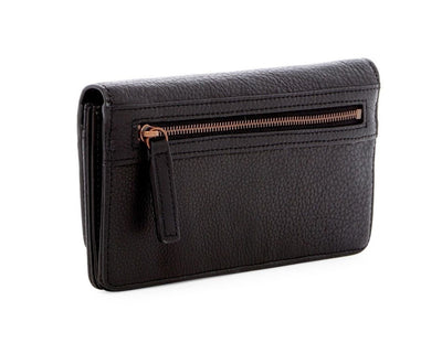 Slam Black Leather Travel Clutch Purse Wallet, Liebeskind Berlin- Deluge Sales