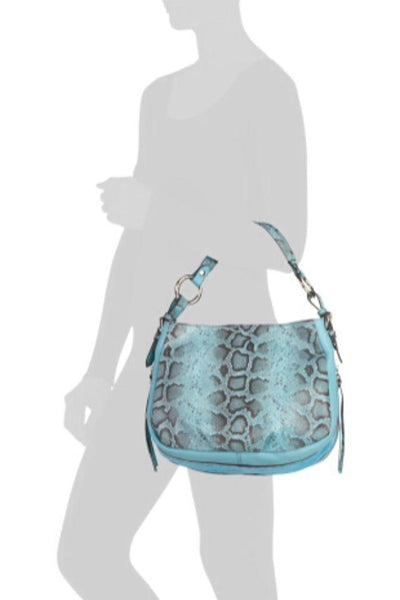 Shoulder Bag Leather Snake Print Purse, Claudia Firenze- Deluge Sales