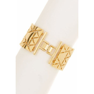 """Lauren"" Gold Triangular Flex Bracelet, Ralph Lauren- Deluge Sales"