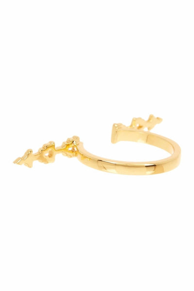 Bondi Geometric Ring 18K Gold Plated Size 8, Gorjana- Deluge Sales