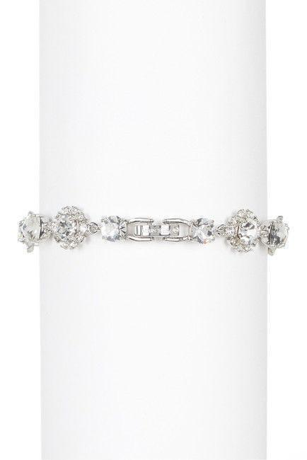'Crystal Link Bracelet' , color: RHODIUM, Marchesa- Deluge Sales
