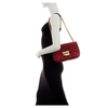 Michael Kors Hamilton Whipped East/west Red Satchel