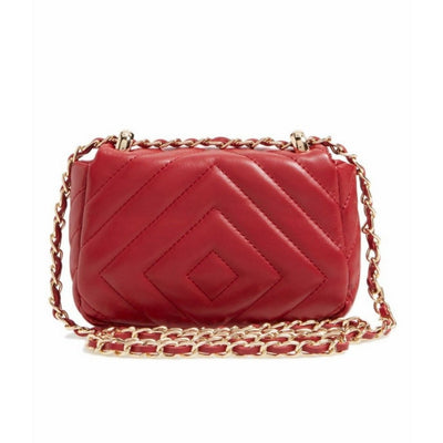 Quilted Faux Leather Red Crossbody Bag, BP.- Deluge Sales