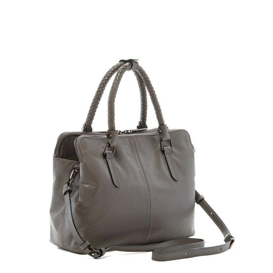 Genevieve Leather Satchel in Slate, Elliott Lucca- Deluge Sales