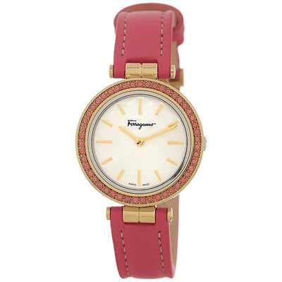 Intreccio Genuine Topaz Bezel Pink Watch, SALVATORE FERRAGAMO- Deluge Sales