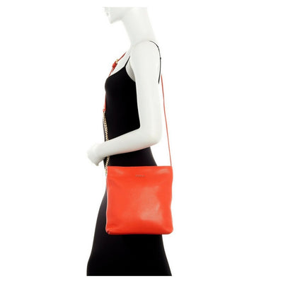 Arancio Julia Chain Small Leather Crossbody, Furla- Deluge Sales