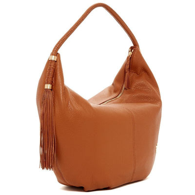 Vince Camuto Dessa Brown Leather Hobo - Deluge Sales
