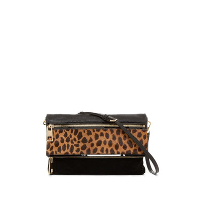 Vince Camuto Women's Black Alicia Genuine Calf Hair Clutch