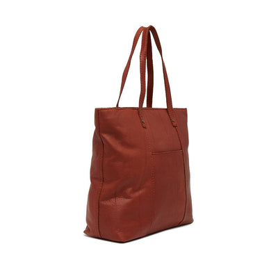 AMERICAN LEATHER CO. Women's Nashville Leather Tote Bag Brandy smooth | Deluge Sales