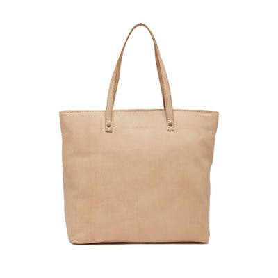 AMERICAN LEATHER CO. Women's Nashville Leather Tote Bag - Vachetta Smooth