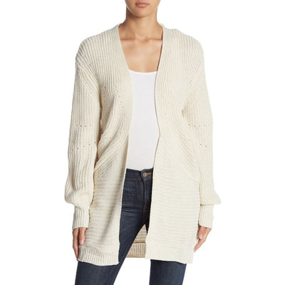 Love by Design Cream Balloon Sleeve Cardigan Size L - Deluge Sales