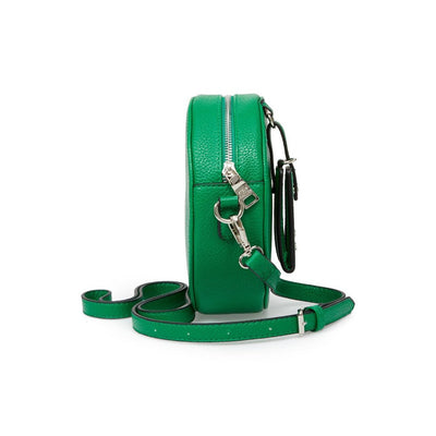 Steve Madden Pebbled Faux Leather Canteen Bag, Green | Deluge Sales