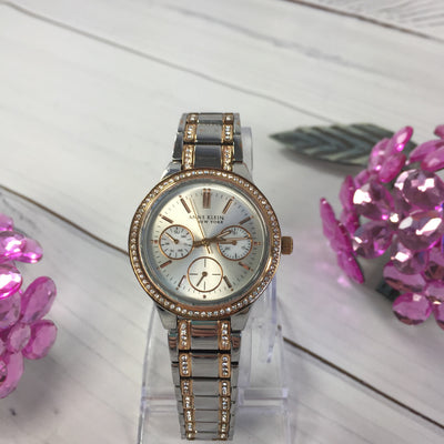 Anne Klein 112/2297SVRT Swarovski Crystal Women's Watch - Deluge Sales