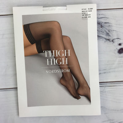 Nordstrom Medium Nude Diamond Band Thigh High Stocking, Size C - Deluge Sales