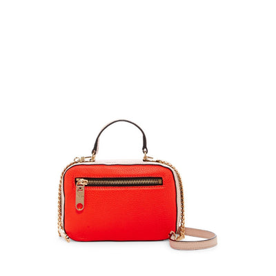 MILLY Women's Astor Leather Mini Satchel, Red | Deluge Sales