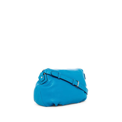 Marc Jacobs Women's Classic Leather Messenger Bag, Turquoise - Deluge Sales