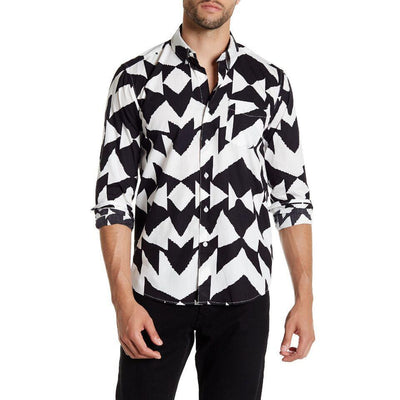 SATURDAYS NYC Men's Crosby Mirror Shirt, Size XS | Deluge Sales