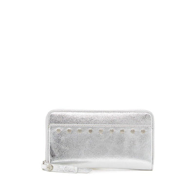 Sam Edelman Silver Women's Baylor Zip Around Wallet - Deluge Sales