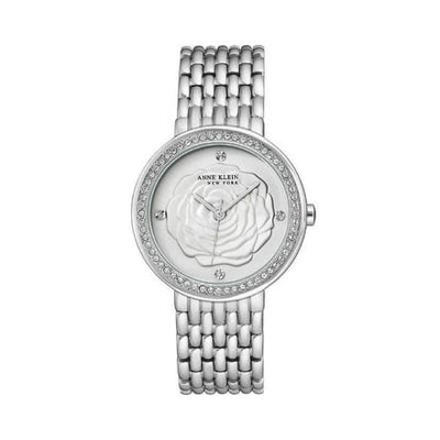 Anne Klein Rose Dial Silver White Watch