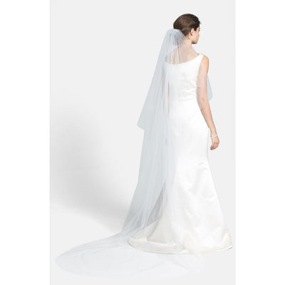 Wedding Belles NY Ellen' Cathedral White Veil - Deluge Sales