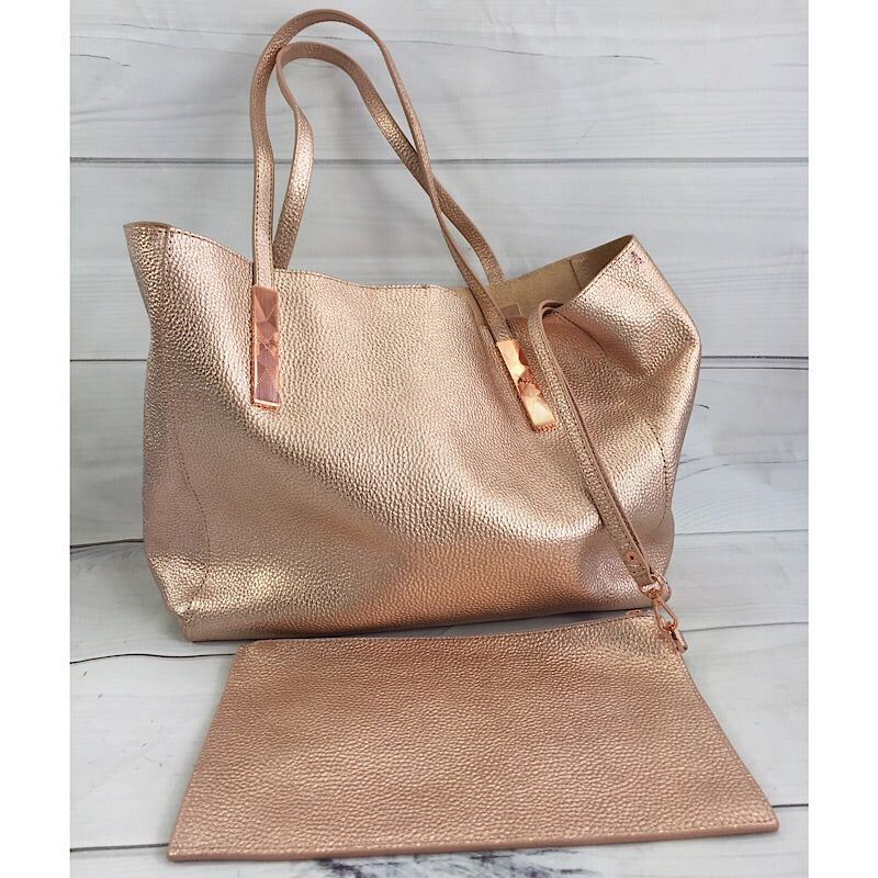 Ted Baker London Rose Gold Pionila Leather Tote Bag