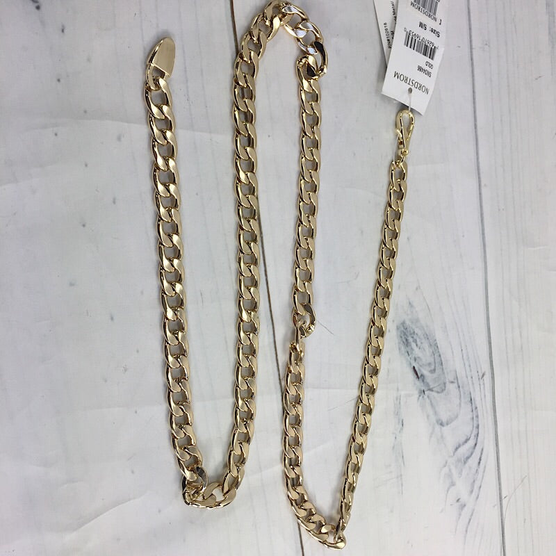 Steven by Steve Madden 'Classic' Chain Belt Gold, Size Small/Medium - Deluge Sales