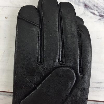 Fownes Bros Pearl Trim Black Faux Fur Lined Leather Gloves - Deluge Sales