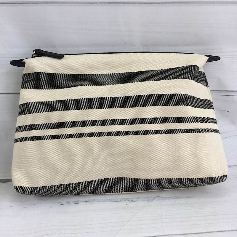 Vince Camuto Offwhite-Black Striped Pouch - Deluge Sales